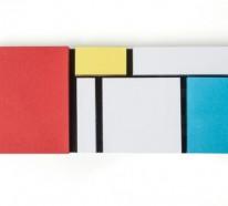 """Bürozubehör im Mondrian-Stil: """"Monde Riant"""" Klebenotizen von Pa Design"""