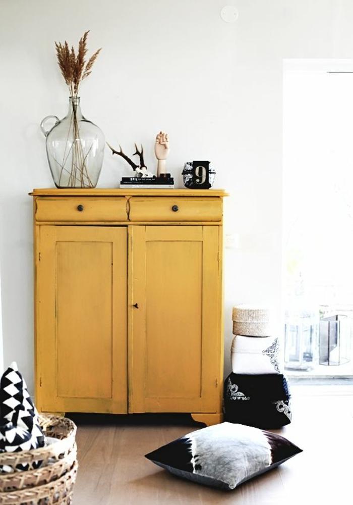 pantone farben gelb retro anrichte