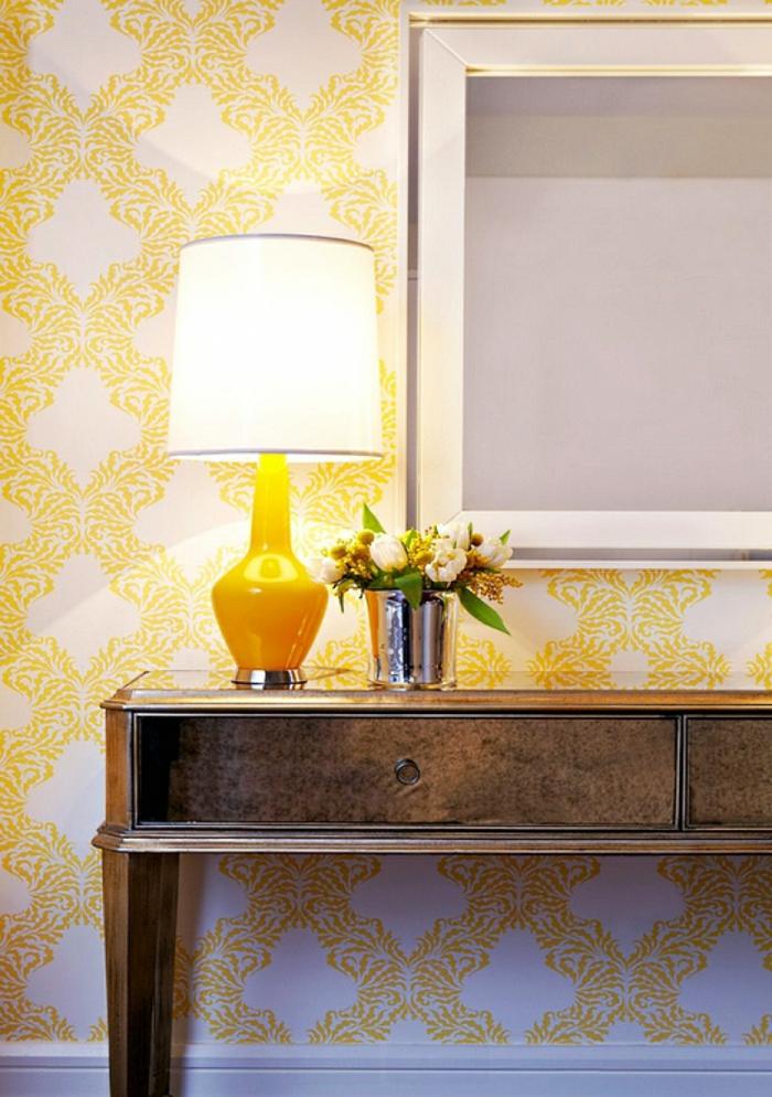 pantone farben gelb wandtapeten muster