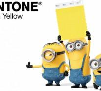 Pantone Farben: die neue Farbnuance Minion-Gelb im Interieur Design
