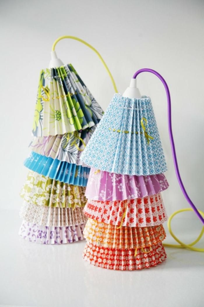 papierlampen hängelampe gefaltete glocken