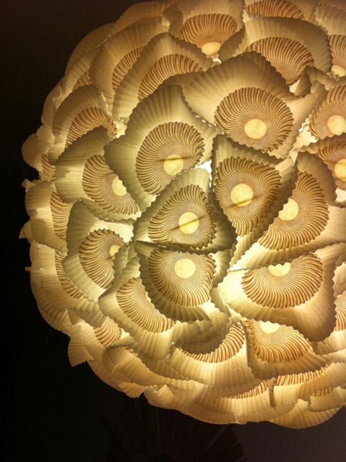 papierlampen hängelampe organische formen