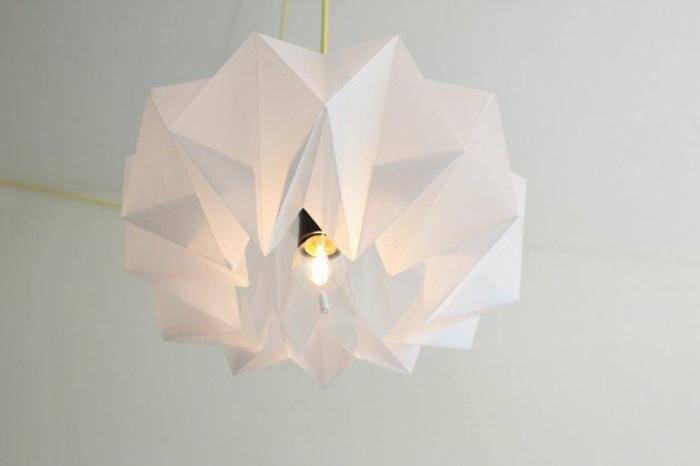 papierlampen hängelampe origami abstrakt weiß