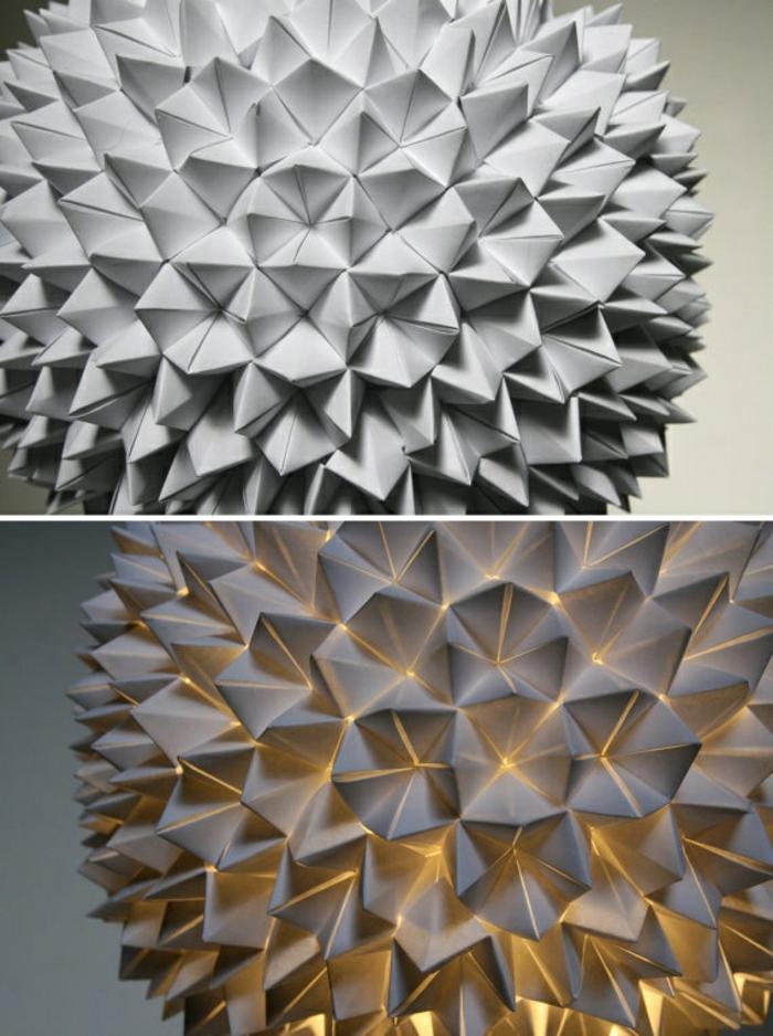 papierlampe origami rosa lapmenschirm