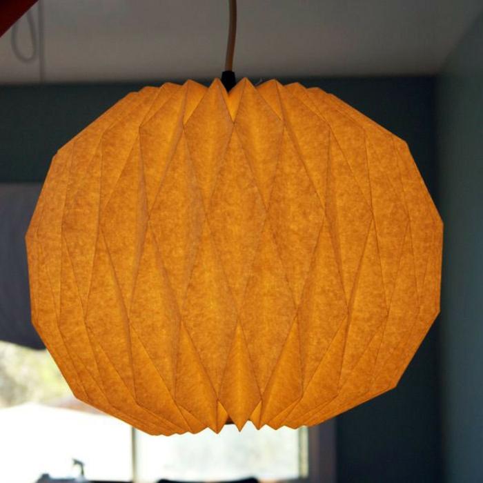 papierlampen hängelampe oval origami