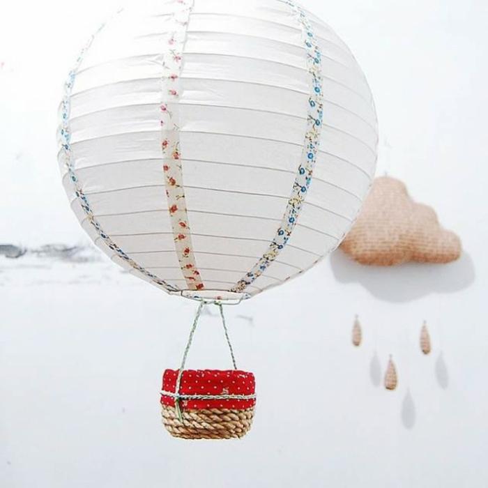 papierlampen hängelampe rund luftballon diy