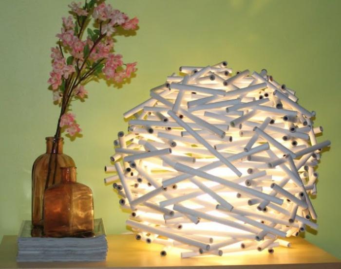papierleuchten hängelampe rund papierrollen