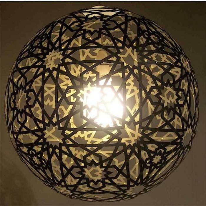 papierlampen hängelampe rund sterne sonnen ornamente