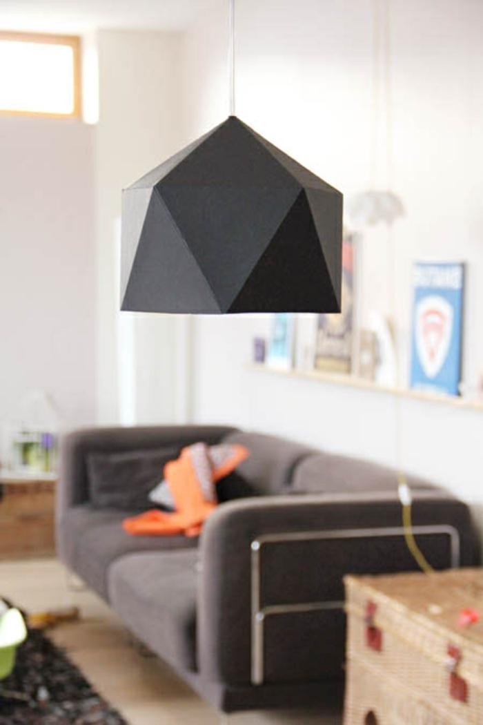 papierlampen hängelampe schwarz minimalistisch