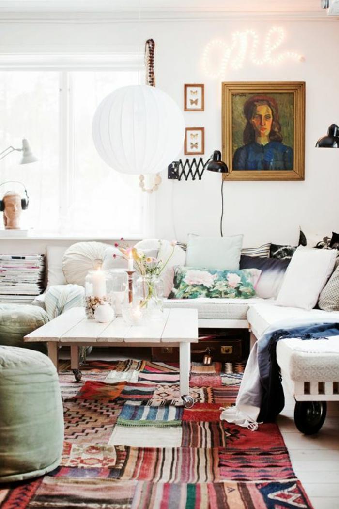 patchwor teppich bunte streifen läufer wohnzimmer möbel
