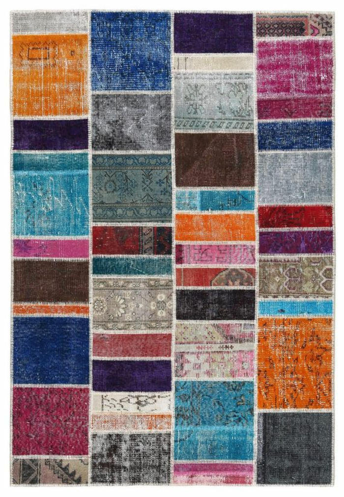 patchwork teppich und läufer bunte ideen