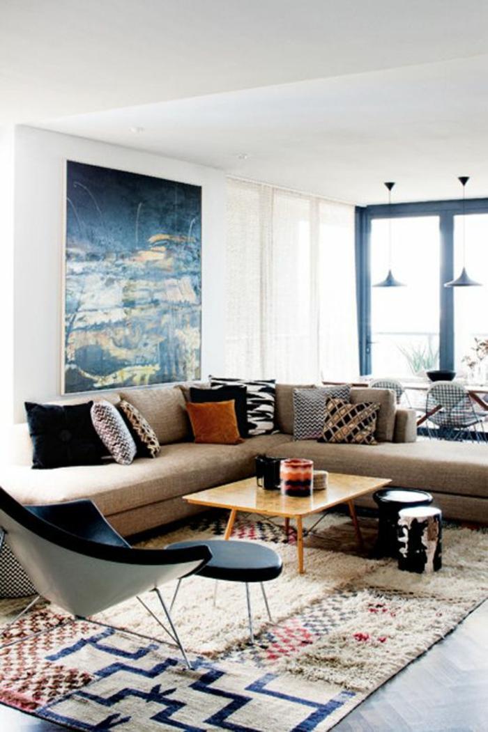 patchwork teppich wohnzimmer bodenbelag teppichboden