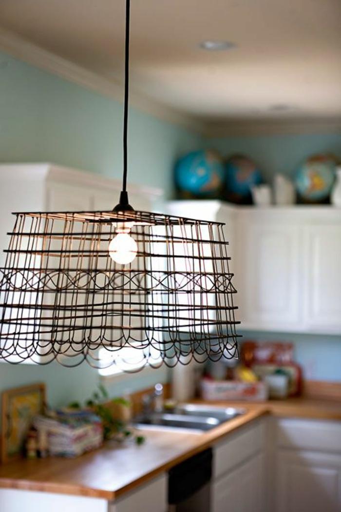 pendelleuchte cooler lampenschirm küche beleuchten ideen