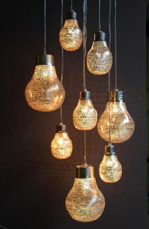 pendelleuchte design einzelne glühbirnen schöne wohnideen