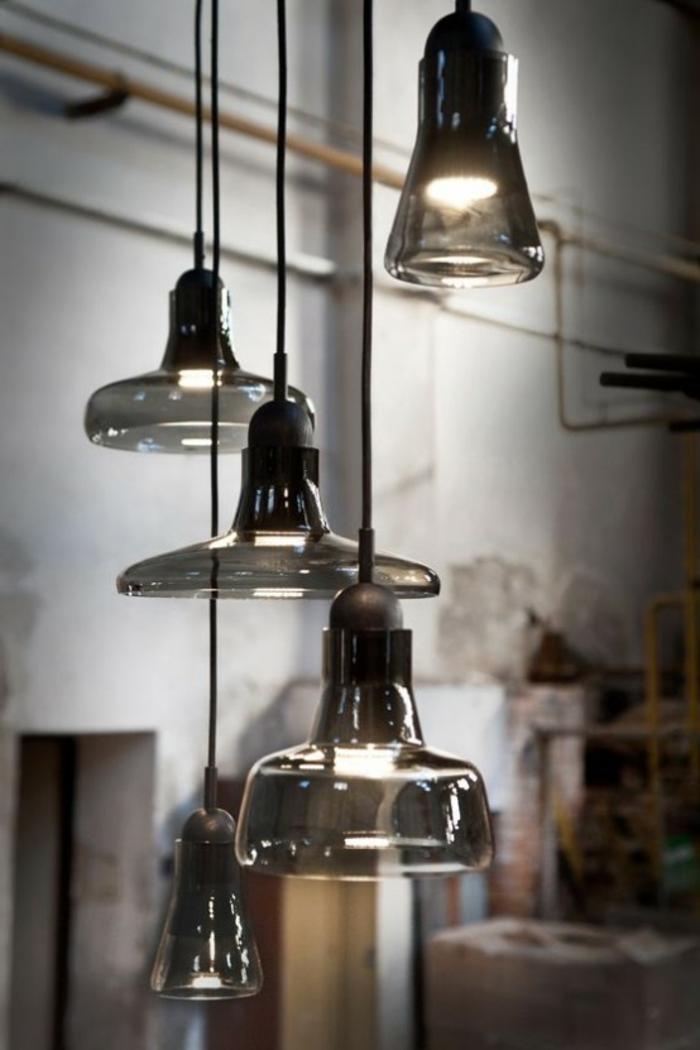 pendelleuchte design indusrieller stil wohnideen lampen