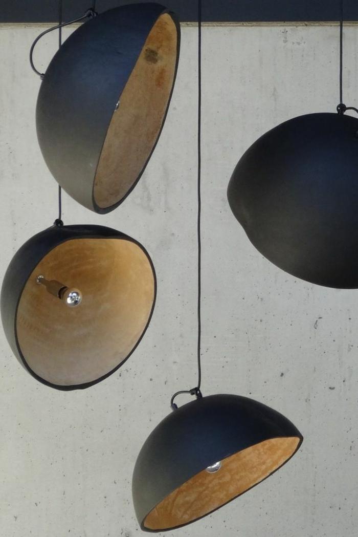 pendelleuchte design industriell schwarzer lampenschirm