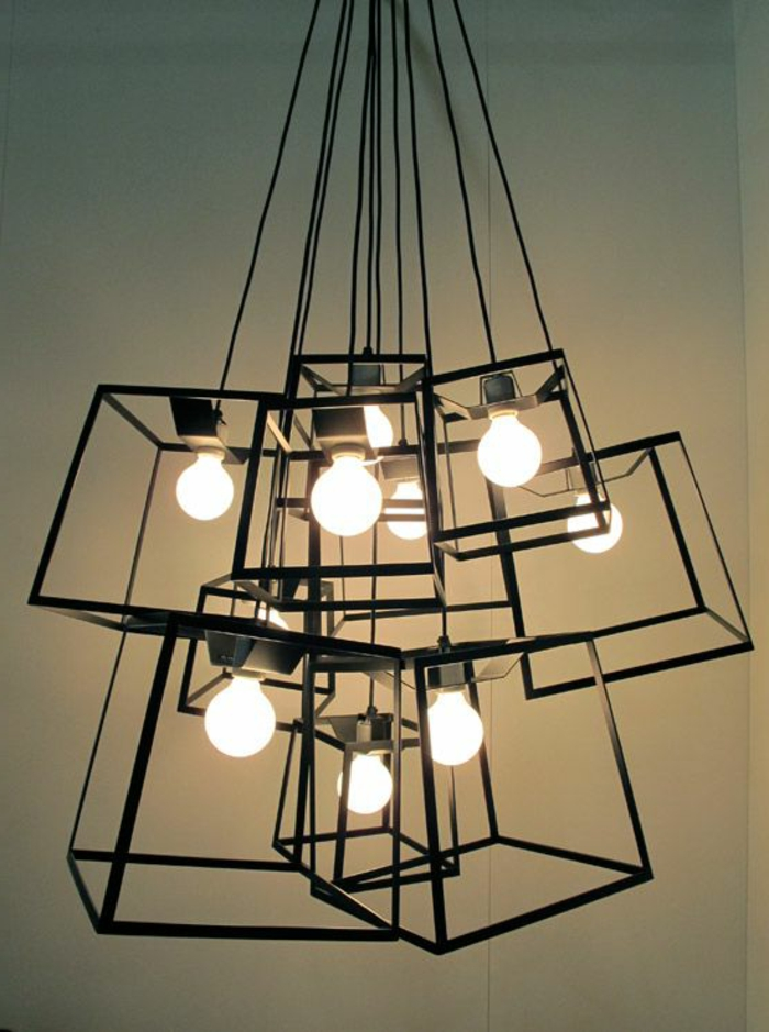 pendelleuchten industrieller look beleuchtung ideen