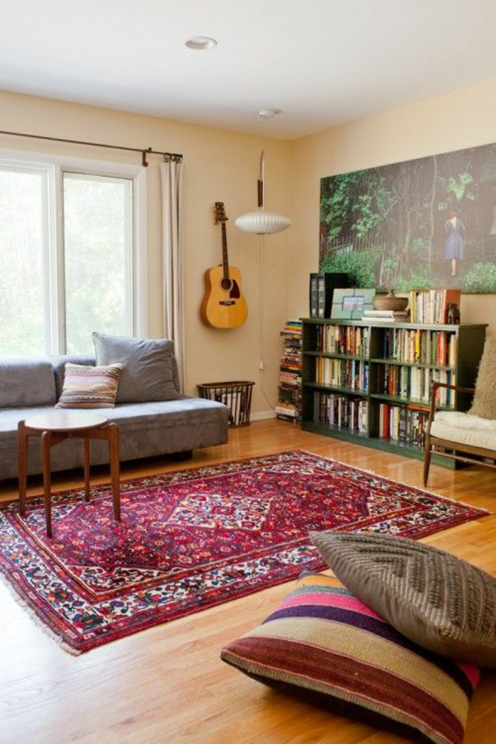 perserteppiche und sitzkissen wohnzimmer einrichten orientalischer stil