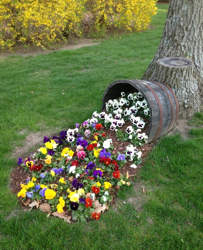 Pfiffige Ideen für Pflanzkübel, aus denen Blumenströme fließen