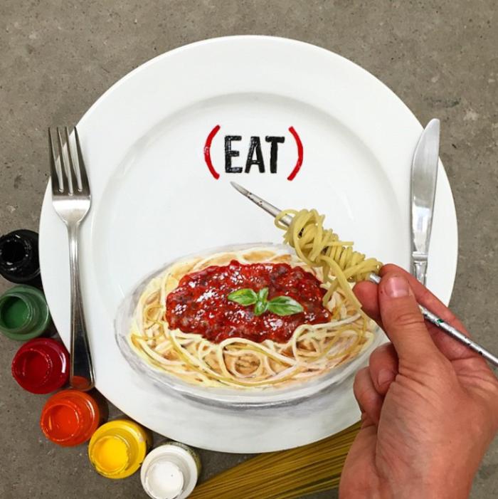 porzellan bemalen Jacqueline Poirier plart spaghetti