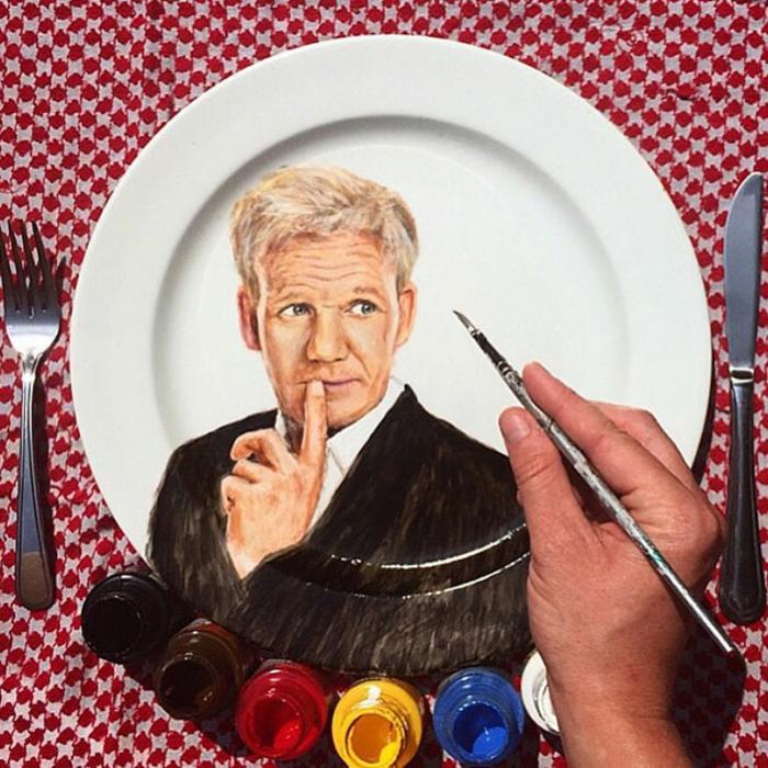 porzellan bemalen portraits Jacqueline Poirier plart