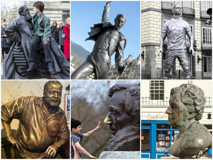 prominews statuen von berühmten personen