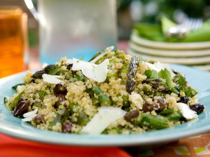 quinoa rezepte grüner spargel oliven