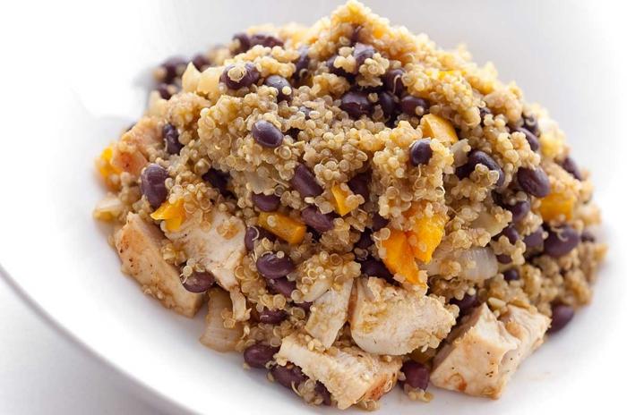 quinoa rezepte hähnchenfleisch bohnen