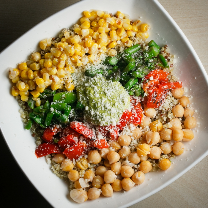 quinoa rezepte kichererbsten mais paprika