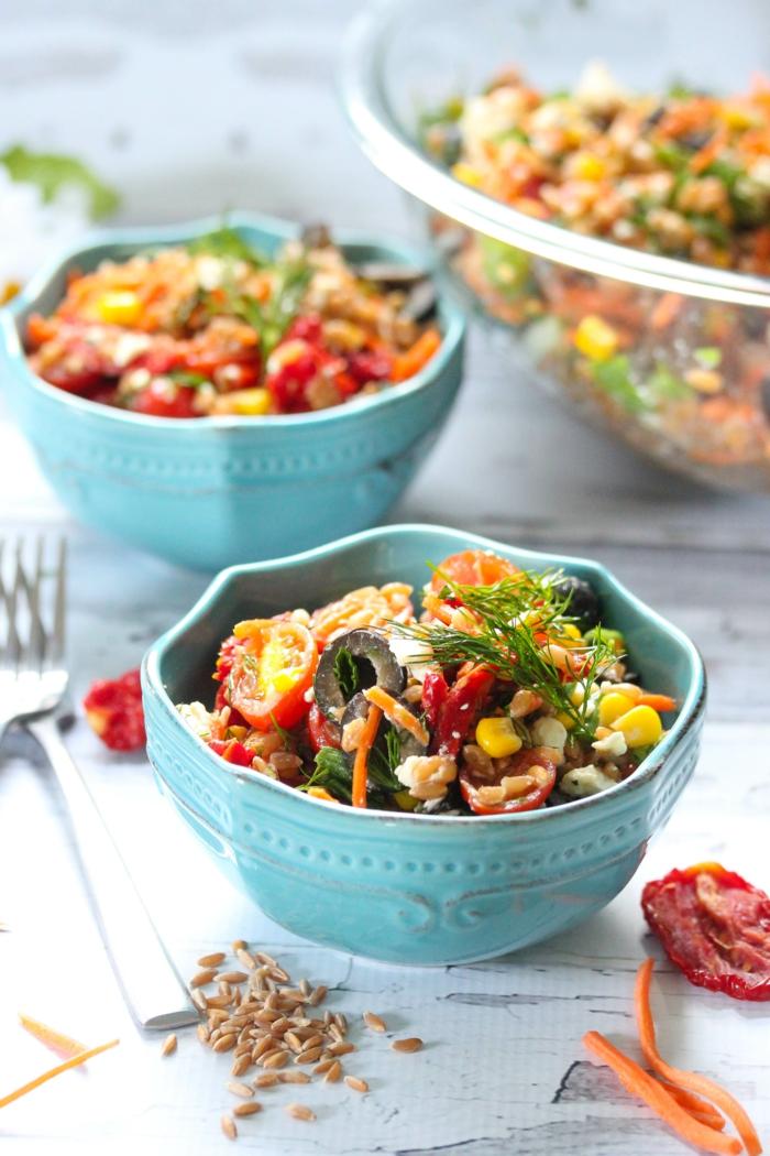 quinoa rezepte mediterraner salat
