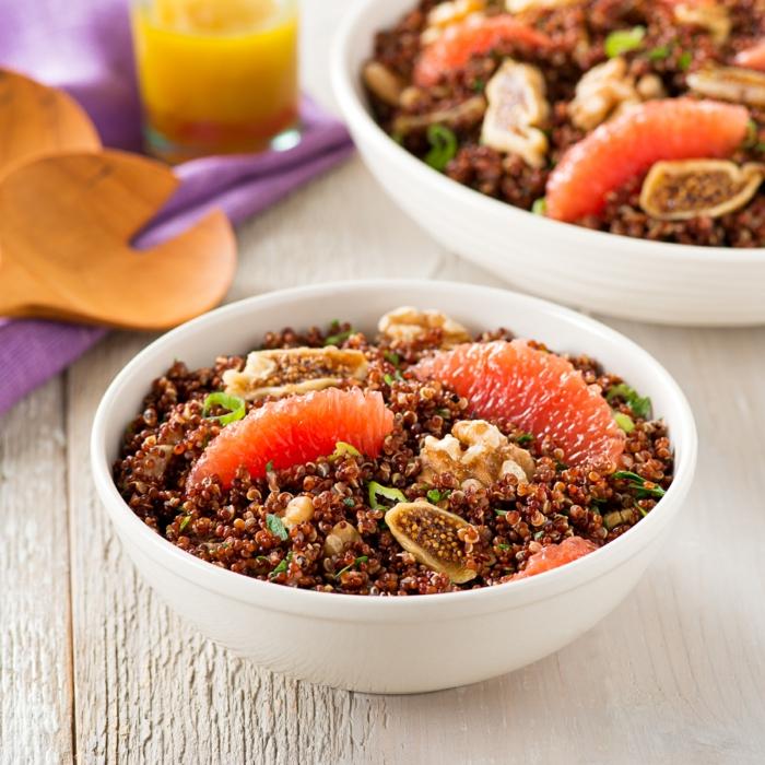quinoa rezepte salat grapefruit feigen