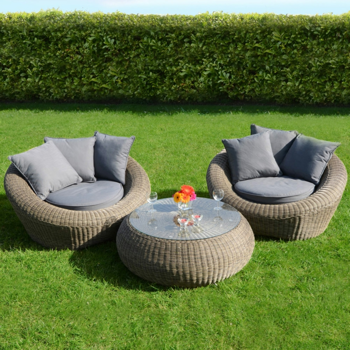 rattan gartenm bel reizvolle au enm bel f r den garten ausw hlen. Black Bedroom Furniture Sets. Home Design Ideas