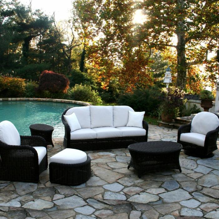 rattan gartenm bel reizvolle au enm bel f r den garten ausw hlen. Black Bedroom Furniture Sets. Home Design Ideas