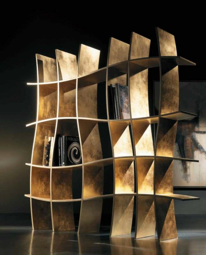 coole regalsysteme und b cherregale hauchen dem interieur. Black Bedroom Furniture Sets. Home Design Ideas