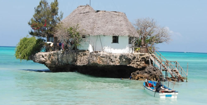 restaurants the rock zanzibar indischer ozean