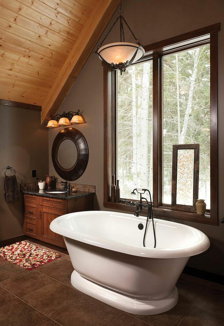 rustikale möbe badmöbel aus holz im landhausstil