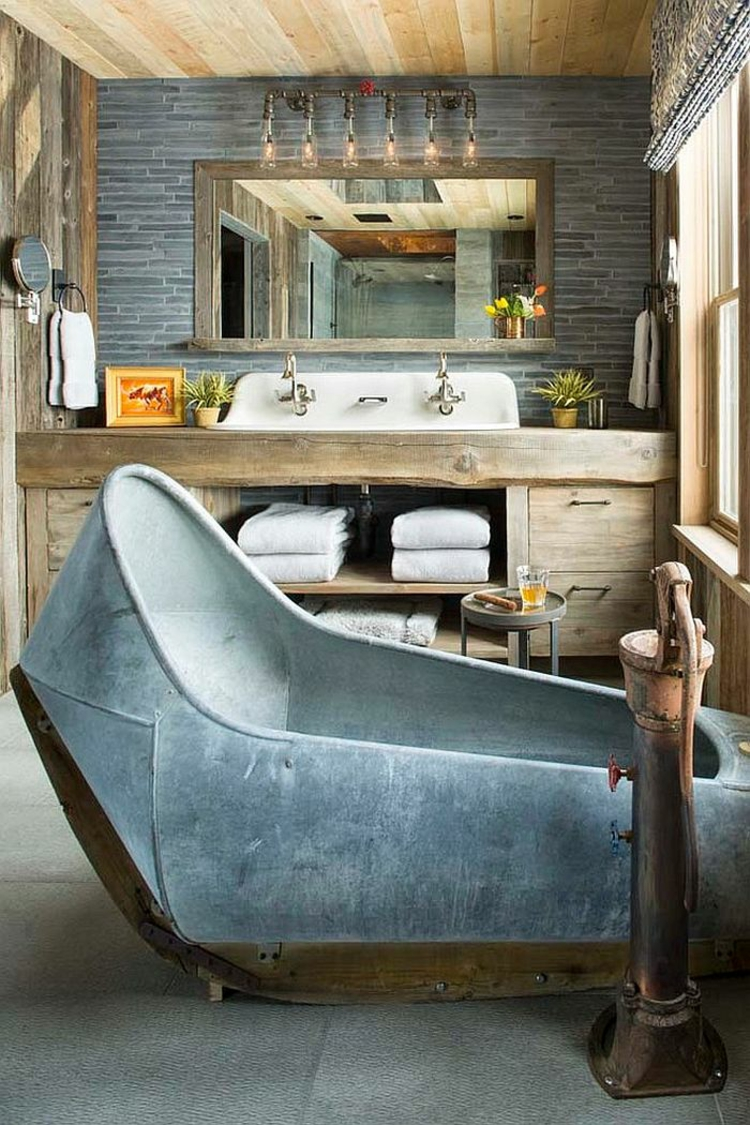 rustikale möbel badmöbel ausgefallene badewanne