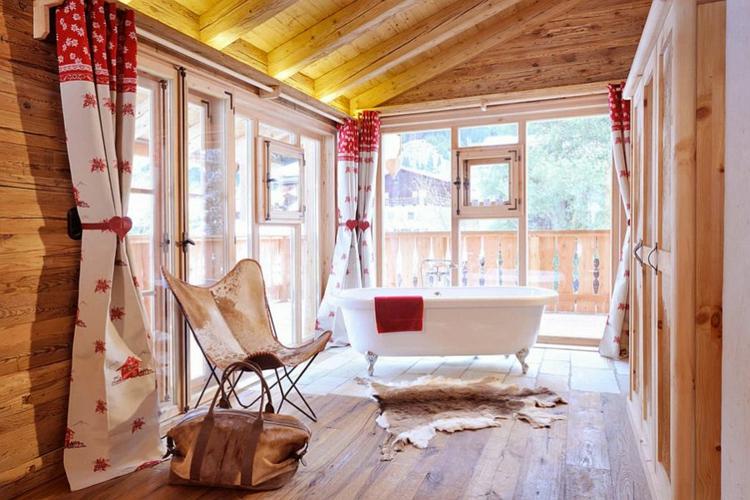 rustikale möbel badmöbel echtholz fellteppich
