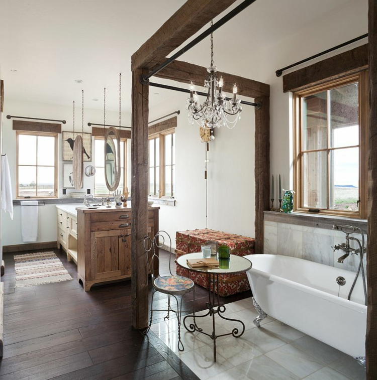 rustikale möbel badmöbel echtholz luxus im landhausstil