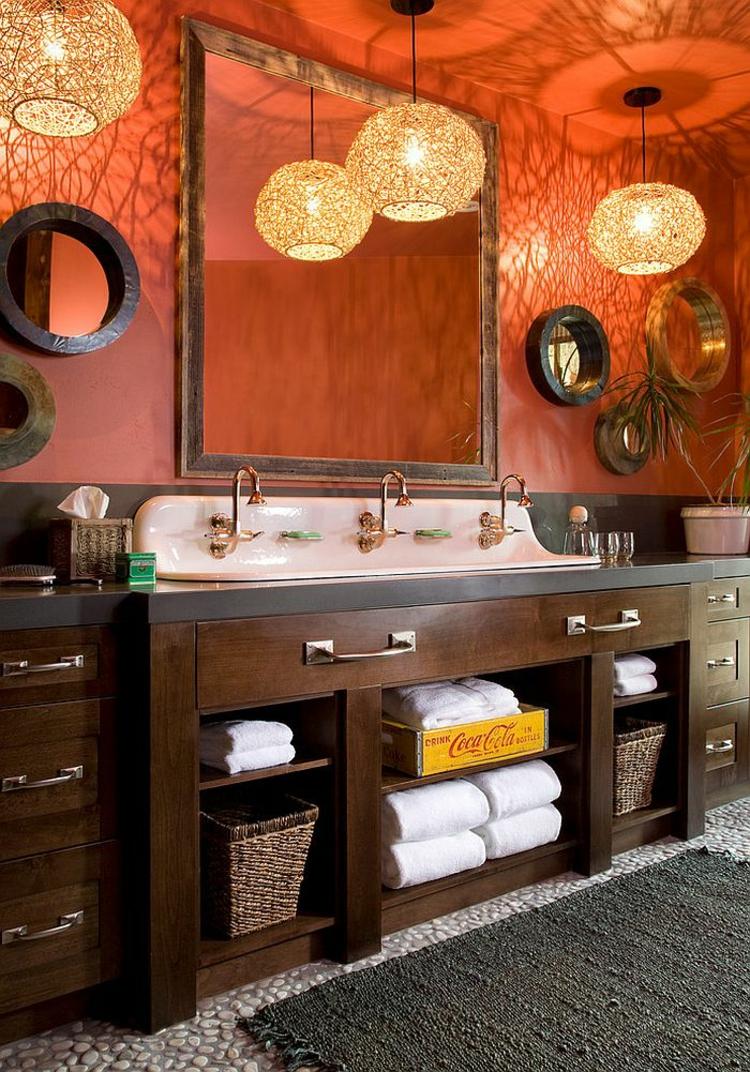 rustikale möbel badmöbel echtholz rustikale pendelleuchten