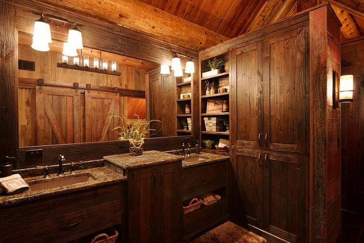 rustikale möbel badmöbel komplett holz rustikale badeinrichtung