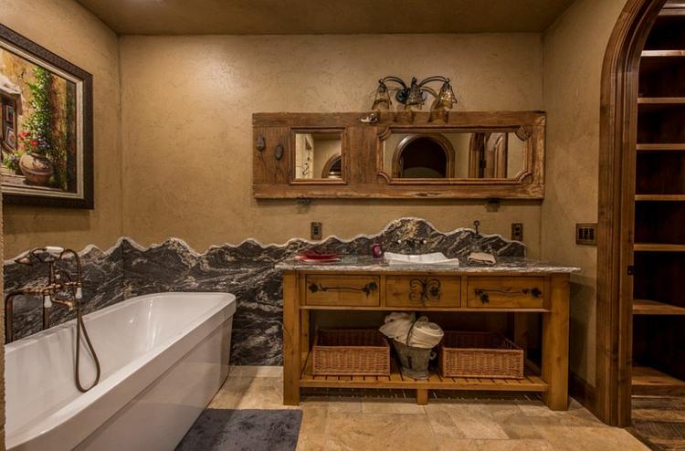 rustikale möbel badmöbel landhaus rustikale badeinrichtung