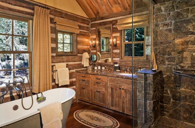 Badezimmermöbel holz landhaus  Rustikale Möbel: 50 Beispiele für moderne Badmöbel im Landhausstil