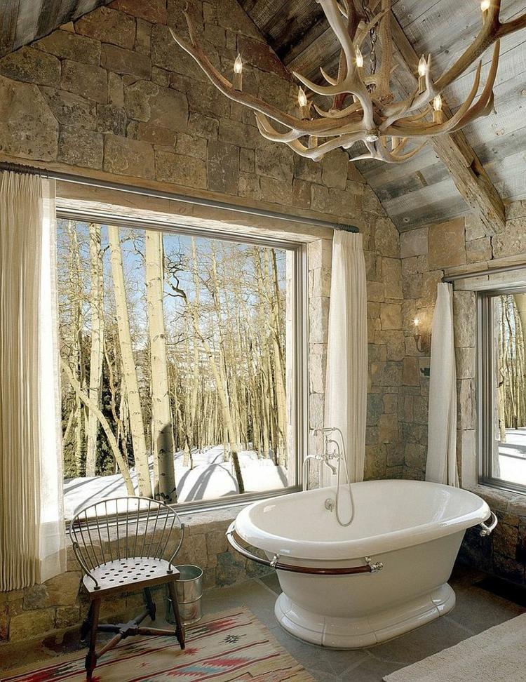 rustikale möbel: 50 beispiele für moderne badmöbel im landhausstil - Badewanne Rustikal