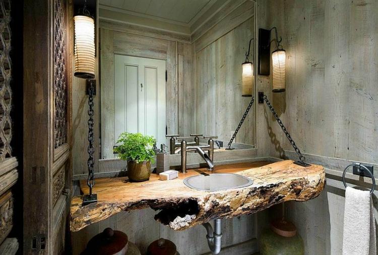 rustikale möbel badmöbel landhausstil waschtisch naturholz