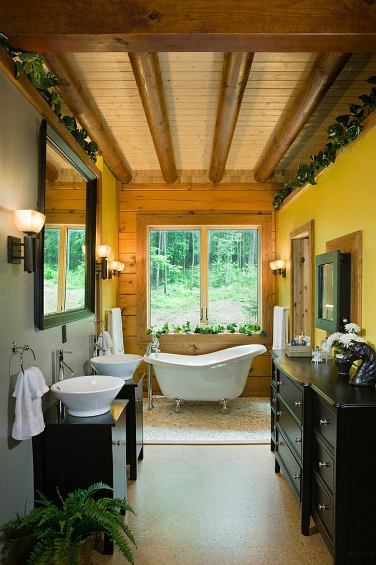 rustikale möbel: 50 beispiele für moderne badmöbel im landhausstil, Wohnzimmer dekoo