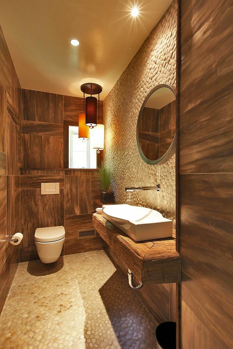 rustikale möbel: 50 beispiele für moderne badmöbel im landhausstil - Badeinrichtung Kleines Bad