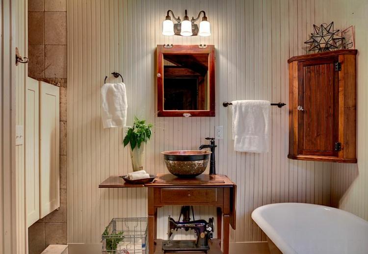 rustikale möbel badmöbel set echtholz rustikal