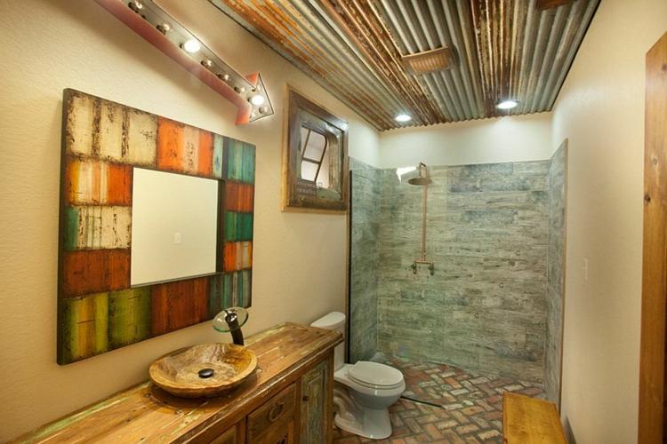 rustikale m bel 50 beispiele f r moderne badm bel im. Black Bedroom Furniture Sets. Home Design Ideas