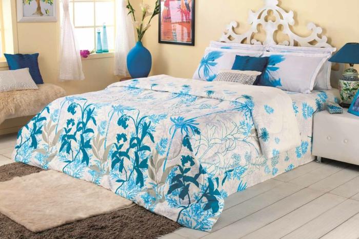 schöne bettwäsche schlafzimmer einrichten florale motive